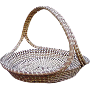Large Vintage Sweet Grass Basket