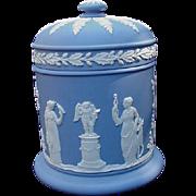 Wedgwood Blue Jasperware Covered Jar