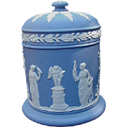 Wedgwood Blue Jasperware Covered Jar