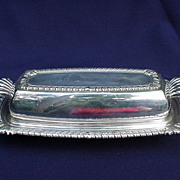 Vintage Silverplated Covered Butter Dish