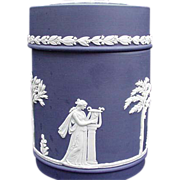 Wedgwood Jasperware Jar, Dark Blue, Made in England
