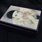 Vintage Schmid Music/Jewelry Box, Clown Image