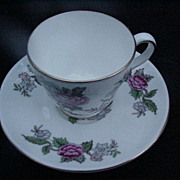 Wedgwood English Bone China Demitasse Cup and Saucer,  Cathay Pattern