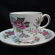 Wedgwood Cathay Cup and Saucer, 1950s English Bone China