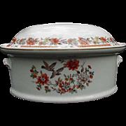 Mottahedeh Vista Alegre Porcelain Casserole, Portugal