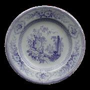 Lavender Blue Staffordshire Plate, Parma