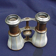 LeFevre, Paris, France MOP and Brass Opera Glasses
