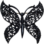 Butterfly Pin, Enameled Metal