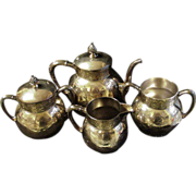 Pairpoint Quadruple Silverplated Tea Set, New Bedford, Mass.