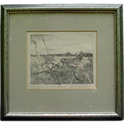 "Signed Original  Etching by Sheila McGinnis, ""Quebec"""
