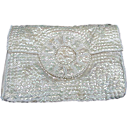 Vintage Evening Purse Covered in Iridescent Sequins
