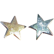 Vintage Sterling Star Shaped  Earrings for Pierced Ears