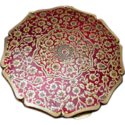 Vintage Stratton Compact, Ruby Red Lid