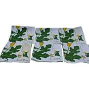 Six Vera Napkins with Nasturtium and Goldenrod Design