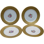 Four Hutschenreuther Porcelain Dinner Plates, Germany