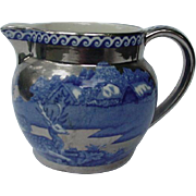 Wedgwood England Fallow Deer Pitcher, Silver Luster