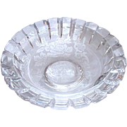 Orrefors Clear Glass Bowl, 1982