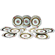Set of 12 Limoges Dinner Plates, Charles Ahrenfeldt for the Cowell & Hubbard Co., Cleveland