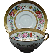 Limoges Cup & Saucer, C. Ahrenfeldt for The Cowell & Hubbard Co., Cleveland, Ohio