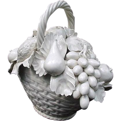 White porcelain basket of flowers vietri made in italy sold ruby white porcelain basket of flowers vietri made in italy sold ruby lane mightylinksfo
