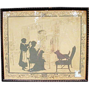 Silhouette by Eveline v. Maydell of Annie Burr Jennings, 1924