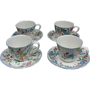 Vintage Hazelbury Cups and Saucers, Laura Ashley Exclusive, England