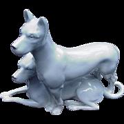 Erphila Porcelain Dog Figurine, Germany
