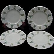 Four Royal Cauldon, England, Dessert/Salad Plates, June Garden