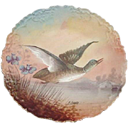 Limoges Game Plate, Signed by Artist an