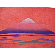 Japanese Woodblock Print, Nenjiro Inagaki, Mt. Fuji, 1950s