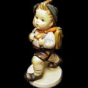 """Hummel """"School Boy"""" Figure of Little Boy with Satchel, W. Germany"""
