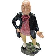 Vintage Figurine of Charles Dickens Character, Mr. Micawber