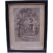 18th C. Engraving, Edwin & Angelina by Taylor