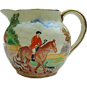 Sadler Hunt Scene Pitcher, England