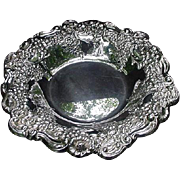 Ornate Vintage Silverplated Bowl by Lunt, Repousse Border