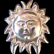Vintage Sun Burst Pin, Marked .925 Mexico