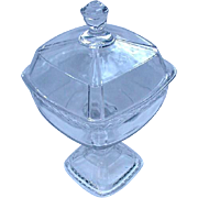 EAPG Covered Compote on Pedestal Base