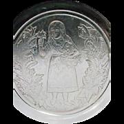 EAPG Plate, Girl in a Garden