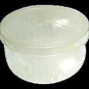 Vintage 1950s Lucite Hat Box
