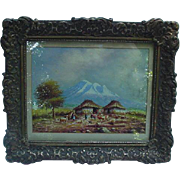 O. Moncayo Oil on Paper, Landscape View, Ecuador
