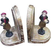 Pair of Painted Monkey Bookends