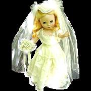 "Madame Alexander Doll, 1950s, 16"" Hard Plastic, Maggie"
