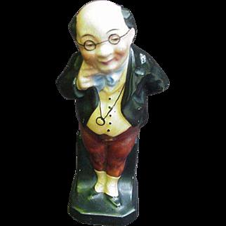 Vintage Figurine of Dickens' Mr. Pickwick, Marked Germany