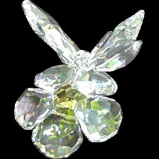 Vintage Swarvorski Butterfly on Flower