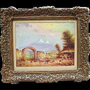 Oil Painting by O. Moncayo, Ecuador