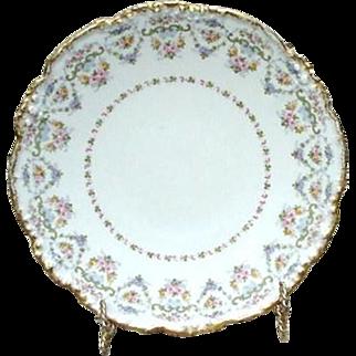 Five J. Pouyat, France, Limoges Dessert or Salad Plates