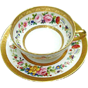 Limoges Cup and Saucer, C. Ahrenfeldt, France, Deposse, Artist Signed