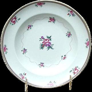 Vista Alegre Mottahedeh Soup Plate, Roses