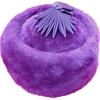 Vintage Coolie Style Purple Felt Hat, Styled by Coralie