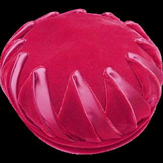 Vintage Coralie Velvet Hat, Scarlet